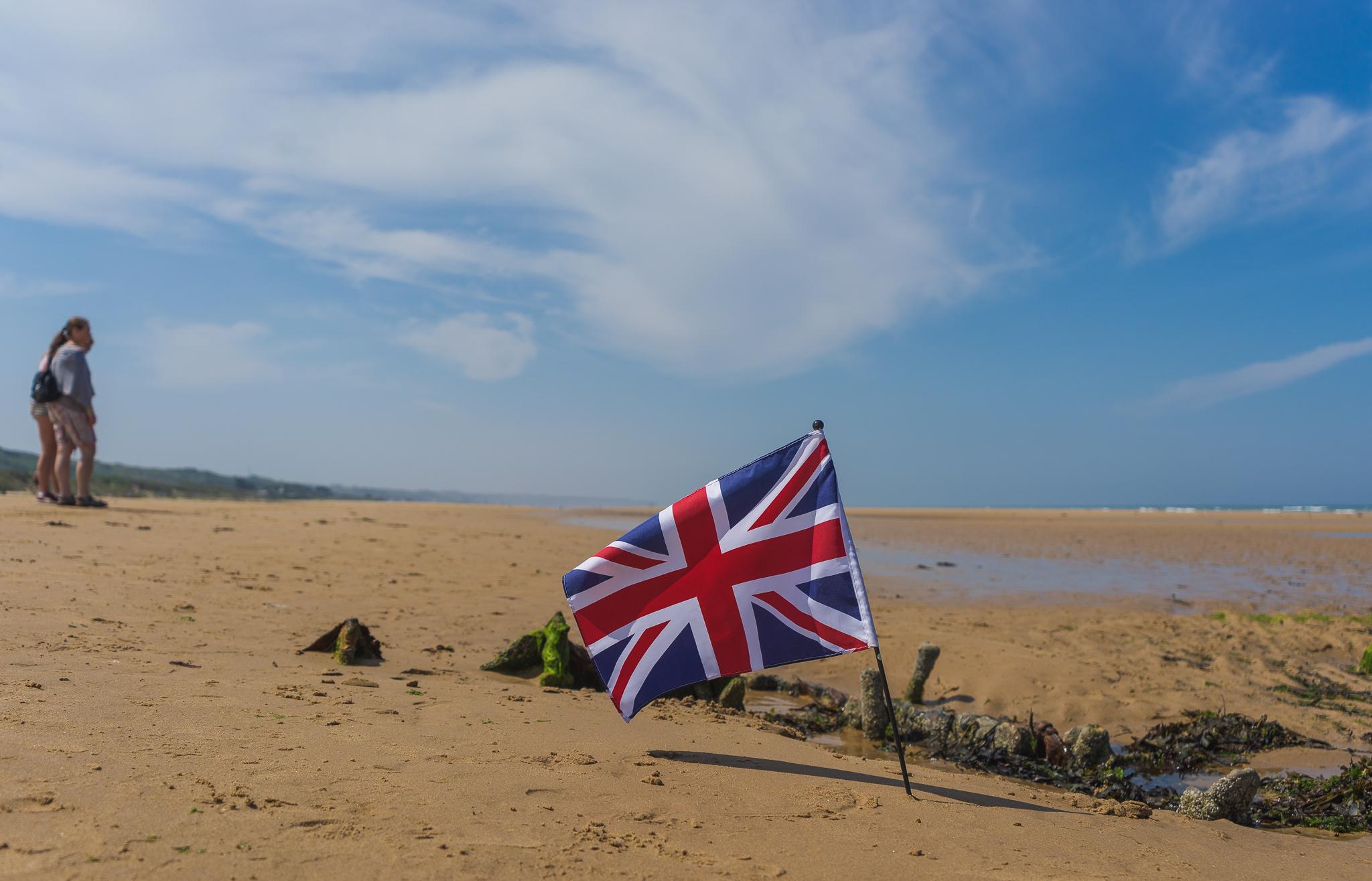 omaha beach english flag - 20140725